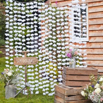 White Wedding Flower Backdrop